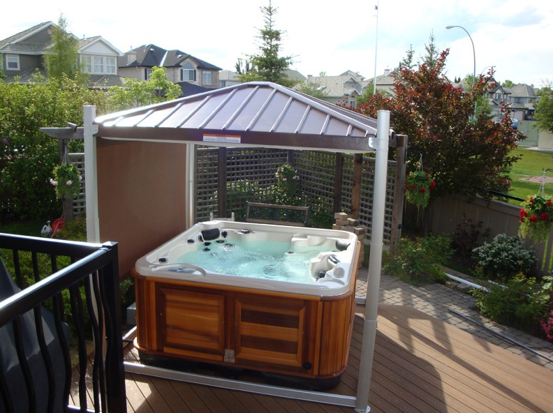 The Hot Tub with Cavana Cover above